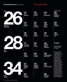 NYT Mag: The Lives They Lived 2014 - Ben Grandgenett Design