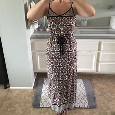 Adorable long dress! Low back, slits up both sides Worn once for 2 hours. Offers welcomed :) Boutique Dresses Maxi