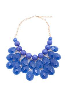 DejaVu — On the Boulevard Necklace (blue)