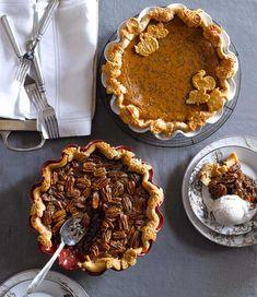 pies: Classic Pecan Pumpkin Butter Pie; Salted Caramel Apple Pie ...