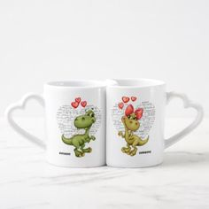 Fun Jurassic Love Valentine's Day Gift Mugs - tap to personalize and get yours