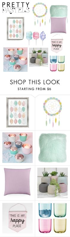 """""""Pretty Pastel Home Decor"""" by cheleniak ❤ liked on Polyvore featuring interior, interiors, interior design, home, home decor, interior decorating, PTM Images, Fiona Walker, Pillow Decor and Bluebellgray"""
