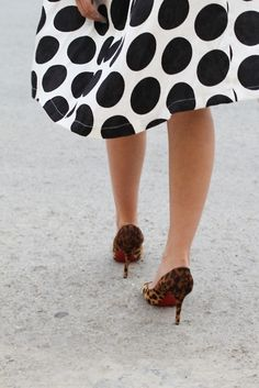 Polka dots and animal print. Will have to remember this. I've got both patterns in my closet.