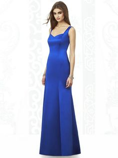 This stunning full-length After Six 6681 bridesmaid gown from Dessy creates a sleek, slim line with its princess seams and inset sweetheart neckline. Wide-set straps and a square cut back make this dress surprisingly supportive and easy to wear. #timelesstreasure