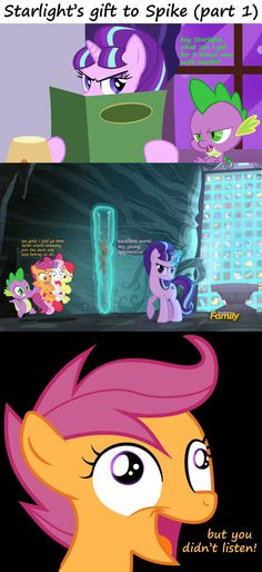 Mod:Hahahahahahaha I never liked the crusaders cutie marks anywaysorry for those who do but I don't. My Little Pony Baby, My Little Pony Comic, Cartoon Memes, Funny Memes, Hilarious, Sweetie Belle, Image Macro, Comic Strips, Chibi