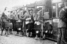 The 1/4th Gordon Highlanders embark at Aberdeen for the rail journey to Bedford. Throughout the war, many Shetlanders were attached to the 1/4th Gordons. This would have been a common experience for so many Shetland soldiers during the Great War. Some would have left from Inverness, whilst others may have left from Edinburgh, Perth and Glasgow, depending upon which Regiment they were attached to.
