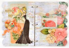 Scrap Escape Scrap Escape blog:  Design work for Prima Marketing using Julie Nutting's new chipboard mini album and all her dolls and other Prima goodies.  #julienutting, #primamarketing