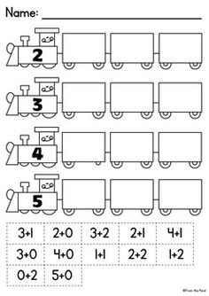 Addition and Subtraction Sorts - Worksheet Activity Pages Cut And Paste Worksheets, Addition Worksheets, Kindergarten Math Worksheets, Worksheets For Kids, Teaching Math, Math Pages, 1st Grade Math, Grade 2, Learning Numbers