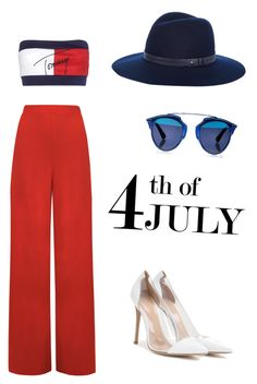 """""""Untitled #332"""" by hannehh ❤ liked on Polyvore featuring Tommy Hilfiger, WearAll, Gianvito Rossi, Christian Dior, rag & bone, redwhiteandblue and july4th"""