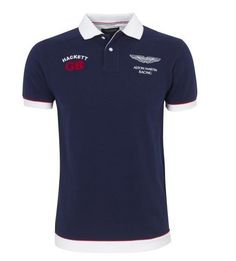 ralph lauren paris! Hackett Bonne qualité Aston Martin Racing Homme Polos  Bleu ccbea7169c22