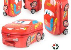 超可愛的迪士尼系列卡通汽車總動員麥昆方形兒童拉杆箱旅行箱18寸送專用鎖  優  惠:1450元
