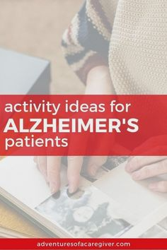 Keeping your loved one with Alzheimer's busy and engaged can be a real challenge for caregivers. Here's a list of over 75 caregiver recommended activities. Activities For Dementia Patients, Dementia Crafts, Alzheimers Activities, Elderly Activities, Senior Activities, Alzheimer's And Dementia, Autumn Activities, Exercise Activities, Dementia Care