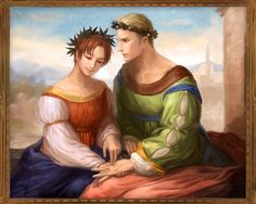 Oh God, someone actually made GerIta version of that famous painting!