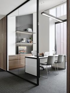 Executive offices are spacious and feature custom- made desks and Catifa chairs from Stylecraft: