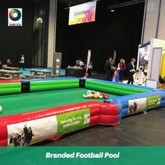 The #FootballPool Game is great for #TradeEvents, #TradeStands, #Exhibitions & #BrandActivations.   The #FootballPoolHire was hired for a corporate client for their trade stand to encourage visitors to #Engage with their brand.  Football Pool is perfect for the #BrandActivation.  Branded banners have been applied to the Football Pool to display the clients branding reinforcing the #BrandImage & creating #BrandAwareness.   #BrandedGamesHire #BespokeBranding #BrandedFootballPool