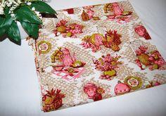 Vintage Fabric Pink Kitsch by CheekyVintageCloset on Etsy, $16.50