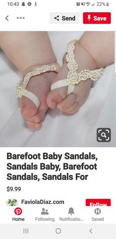 Baby Sandals, Bare Foot Sandals, Baby Doll Clothes, Baby Dolls, Baby Blessing Dress, Mommy Jewelry, Ideas, Doll Clothes, Thoughts