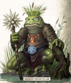 Boggart (Celtic) - Frog people that live in swamps and which are extremely hostile toward humans.  These creatures are very stupid and have much superstition going on. Boggarts serve Zmey and especially Vodyanoi without question. They sometimes use other frog-creatures such as Tiddalik as mounts.
