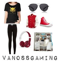 """VanossGaming // Vanossgaming"" by thatoptimisticgirl on Polyvore featuring The Row, Converse, Beats by Dr. Dre and PBteen"