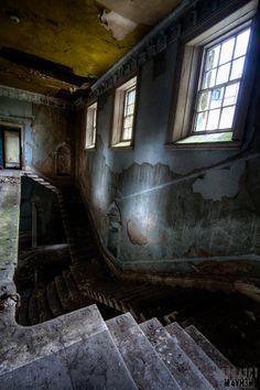 St Johns Asylum aka The Lincolnshire County Pauper Lunatic Asylum Staircase. Lincolnshire, England.