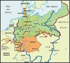 1870/71 - Guerra Franco-Prusiana  La victoria indiscutible de los alemanes marcó el ultimo capitulo de la unificación alemana bajo el reinado de Guillermo I de Prusia