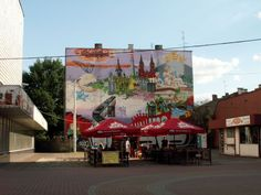 Pabianice, Poland - all the town in one mural