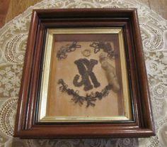 Antique-Victorian-Hair-Piece-Shadow-Box-Framed-Philadelphia-Pennsylvania-Early