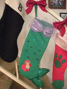 94c03033dc014 Little Mermaid Stocking Disney Christmas Stockings