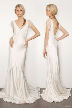 Sarah Janks 2017 Bridal Couture Belinda Silk Sheath Wedding Dress Sleeves