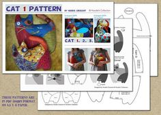 Cat 1 - stuffed animal / PDF Patchwork Sewing Pattern