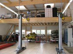Buildings and Plans For Garage Shop. Garage Lift, Pole Barn Garage, Dream Car Garage, Garage Shed, Garage House, Garage Plans, Garage Workshop, Garage Bar, Workshop Ideas