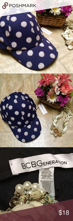 BCBGeneration Baseball Cap fun and stylish polka dots. BCBGeneration Other
