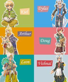The bachelors! Doug's my favorite! Rune Factory 4, Harvest Moon, Fire Emblem, Legend Of Zelda, Runes, Nintendo, Gaming, Attractive People, Character Ideas