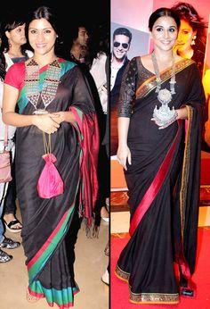 Our favourites wearing Amrapali - Konkona and Vidya.