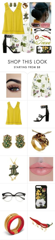 """Casual Tiana-Princess and the Frog"" by arrowlily ❤ liked on Polyvore featuring Glamorous, Avon, David Webb, Montevertine Decori, Effy Jewelry, Dolce&Gabbana, Mulberry and Cordien"