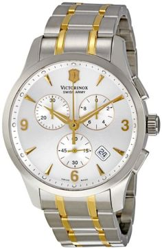 Victorinox Swiss Army Men's 241481 Silver Dial Chronograph Watch: Watches: Amazon.com