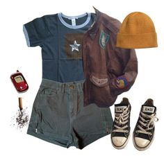 """""""wake up the early days are over"""" by loser99 ❤ liked on Polyvore featuring Bonpoint, American Apparel, Converse, Samsung and H&M"""