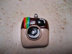 Instagram Charm (polymer clay charm/ clay charm/ cell phone charm/ zipper charm)