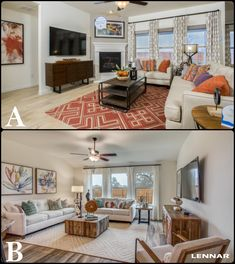 Which family room DECOR do you like MORE?!