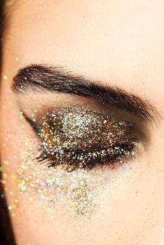 eye full of glitter.