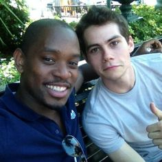Alby and Thomas (Aml Ameen and Dylan O'Brien) on the set of The Maze Runner!!
