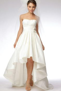 A-Line/Princess Strapless Court Taffeta Bridal Gowns [O0RVZTOE]  6Dress.co.uk