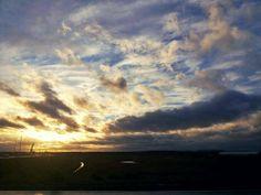 Dongen, Netherlands. Sun set.