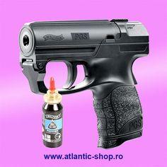 Pistol Walther PGS pentru autoaparare. Se poate cumpara la liber si nu necesita autorizatie sau permis. #autoaparare #romania Hand Guns, Nerf, Firearms, Pistols