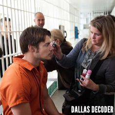 """Josh Henderson prepares to film a scene from the first-season #DallasTNT episode """"No Good Deed,"""" which debuted July 25, 2012."""