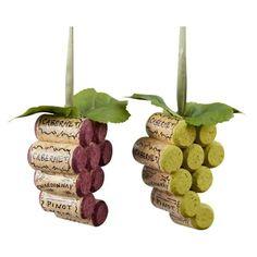 Cork Grape Ornaments