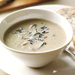 This velvety, nutty-textured soup tastes almost too rich to be meatless, but it is!For a slightly thinner, dairy-free version, replace butter with additional olive oil and replace cream with almond, rice or soy milk.