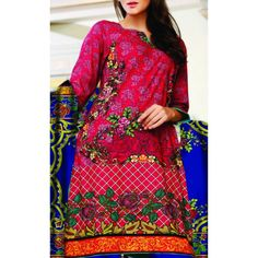 Red/Blue Printed Cambric Dress Contact: (702) 751-3523 Email: info@pakrobe.com Skype: PakRobe