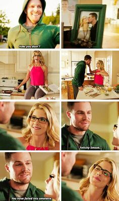 Oliver & Felicity  #Arrow #Season4 Sneak Peek | Look at those cupcakes!!! :D