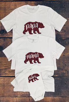 My new social Papa Bear Shirt, Papa Baby, Baby Boy, Matching Shirts, Family Shirts, Momma Bear, Buffalo Plaid, Baby Bears, Cricut